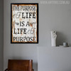 The Purpose of Life Is A Life of Purpose Inspirational Quote Canvas Print