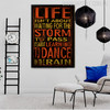 Life Isn't About Waiting For the Storm to Pass Rain Motivational Quote Canvas Art
