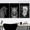 Woodland Animals Portraits Print for Dining Room Wall Decor