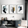Ink Failure Abstract Watercolor Painting Canvas Print for Study Room Wall Ornament