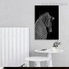 Zebra Backside Animal Picture Wall Art Print for Home Decoration