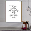 Live Quotes Painting Canvas Print for Room Decor