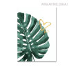 Palm Tree Leaf Botanical Artwork