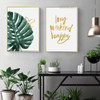 Long Weekend Botanical Quotes Painting Print for Living Room Decor