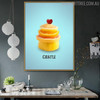 Castle Abstract Creative Painting Print for Kitchen Wall Decor