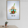 Happy Coconut Abstract Creative Painting Print for Dining Room Equipment