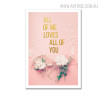 Flowers Modern Floral Quotes Artwork