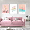 Calla Paddle Modern Floral Quotes Painting Print for Lounge Room Wall Decoration