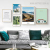 Dreamhouse Modern Floral Landscape Quotes Painting Canvas Print for Living Room Decor