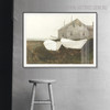 Bone White Famous Artists Still Life Landscape Painting Canvas Print for Lounge Room Getup