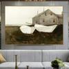 Bone White Famous Artists Still Life Landscape Painting Print for Living Room Ornament