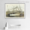 Riverboat Famous Artists Still Life Landscape Picture Print for Dining Room Wall Ornament