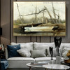 Riverboat Famous Artists Still Life Landscape Painting Canvas Print for Living Room Wall Assortment