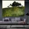 Shade Trees Famous Artists Animal Still Life Landscape Painting Canvas Print for Living Room Wall Decor