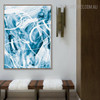 Cyan Abstract Modern Painting Print for Living Room Wall Getup