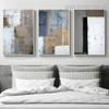 Dark Shades Vintage Abstract Painting Canvas Print for Bedroom Wall Adornment
