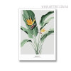 Banana Flower Botanical Quotes Modern Painting Canvas Print