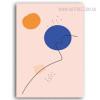 Hued Circles Modern Abstract Geometric Painting Print