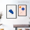 Hued Circles Modern Abstract Geometric Painting Print for Kitchen Wall Equipment