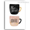 But First Coffee Nordic Quotes Wall Art Decor