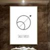Sagittarius Abstract Geometric Minimalist Painting Print for Room Wall Decor