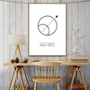 Sagittarius Abstract Geometric Minimalist Painting Print for Dining Room Wall Drape