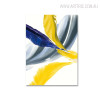Grey Abstract Modern Painting Canvas Print