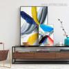 Cyan Abstract Modern Wall Art Print for Living Room Wall Ornament