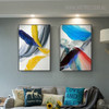 Red Grey Abstract Modern Painting Canvas Print for Living Room Wall Getup