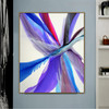 Blue Abstract Modern Painting Canvas Print for Living Room Wall Disposition
