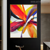 Red Purple Abstract Modern Painting Canvas Print for Living Room Wall Getup