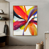 Red Purple Abstract Modern Painting Print for Living Room Wall Adornment
