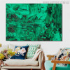Green Abstract Canvas Artwork for Room Wall Decor