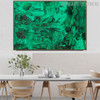 Green Abstract Canvas Artwork for Dining Room Wall Getup