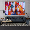 Motley Abstract Canvas Portraiture for Room Wall Embellishment