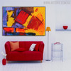 Colorful Artwork Abstract Handmade Painting for Room Wall Outfit