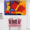Colorful Artwork Abstract Handmade Painting for Wall Disposition