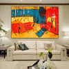 Multicolor Portraiture Abstract Acrylic Painting for Lounge Room Wall Decoration