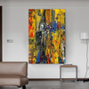 Motley Portrayal Abstract Oil Painting for Room Wall Flourish