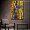 Motley Portrayal Abstract Oil Painting for Living Room Wall Finery
