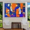 Wonderful Shades Abstract Acrylic Painting for Room Wall Garniture
