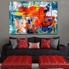 Varicoloured Resemblance Abstract Handmade Oil Painting for Bedroom Wall Decor