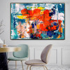 Varicoloured Resemblance Abstract Handmade Oil Painting for Dining Room Wall Assortment