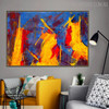 Hued Portraiture Abstract Canvas Artwork for Living Room Wall Outfit