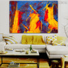Hued Portraiture Abstract Canvas Artwork for Lounge Room Wall Drape