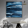 Seascape Abstract Texture Handmade Oil Smudge Living Room Wall Embellishment