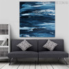 Seascape Abstract Texture Handmade Oil Smudge Room Wall Equipment