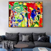 Variegated Art Abstract Texture Oil Painting for Interior Wall Decoration