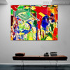 Variegated Art Abstract Texture Oil Painting for Room Wall Outfit