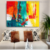 Deep Dapple Abstract Texture Canvas Artwork for Home Wall Adornment